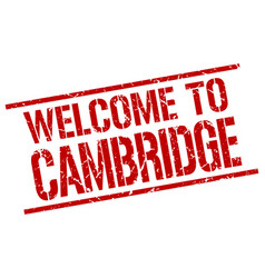 Welcome to cambridge stamp vector