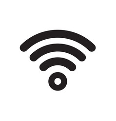 wi-fi wlan signal icon wi fi access free wireless vector image