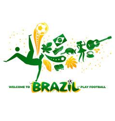world brasil pattern with modern vector image
