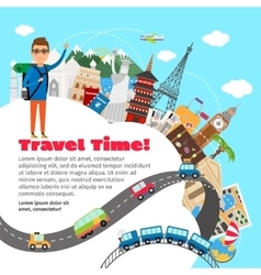 World travel and summer vacation planning vector
