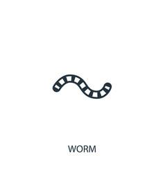 Worm icon simple gardening element symbol design vector