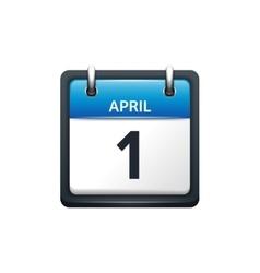 April 1 Calendar icon flat vector image
