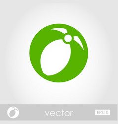 Beach ball outline icon summer vacation vector