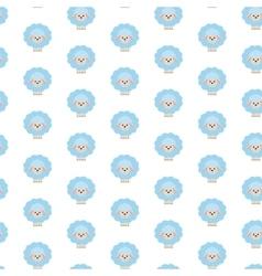 Blue sheep Pattern vector image