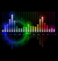 music sound wave spectrum vector image