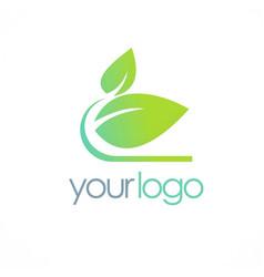 Organic green leaf logo vector
