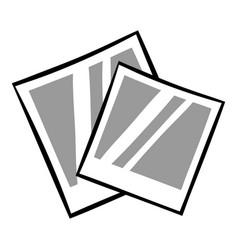 retro photo frame polaroid icon cartoon vector image