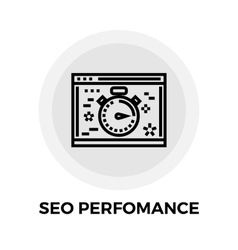 SEO performance Line Icon vector image vector image