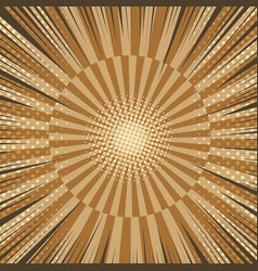 1176comic book brown radial background vector