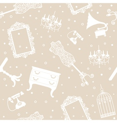 Antique collection seamless pattern vector image