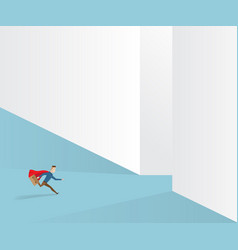businessman running to exit way vector image