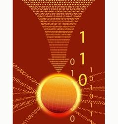 Code Cloud Background vector image vector image