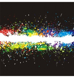 color paint splashes gradient background vector image vector image