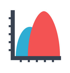 diagram area flat icon vector image