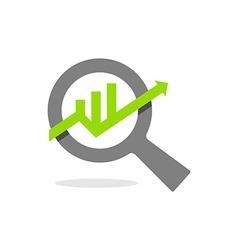 graph icon finance symbol vector image