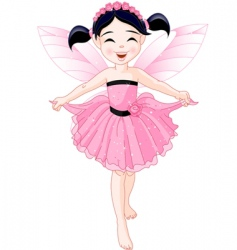 pink fairy vector image vector image