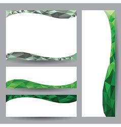 Template card green element design vector image