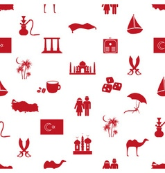 turkey country theme symbols seamless pattern vector image vector image