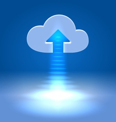 Uploading active cloud icon vector image vector image