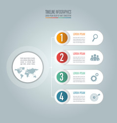 creative concept for infographic timeline vector image vector image
