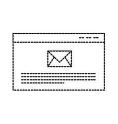 page website email message receiving vector image