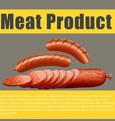Poster design with meat product vector image vector image