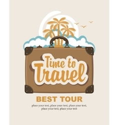time to travel vector image vector image