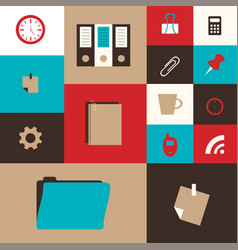 100 business icons human resource finance vector