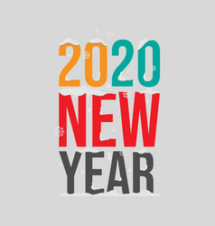 2020 happy new year with winter snowy theme on vector image