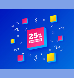 25 percent discount sign icon sale symbol vector image