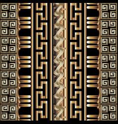 3d striped greek seamless borders pattern vector