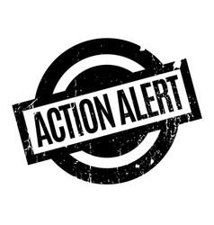 Action alert rubber stamp vector