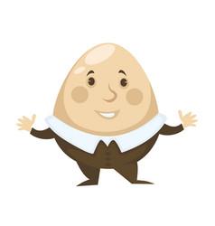 Alice in wonderland character humpty dumpty egg vector