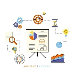 Analytics process vector image