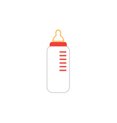baby bottle graphic design template isolated vector image