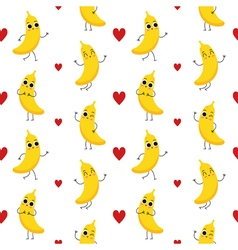 Bananas seamless pattern vector
