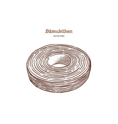 Baumkuchen cake vector