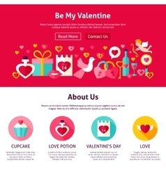 Be My Valentine Web Design vector image