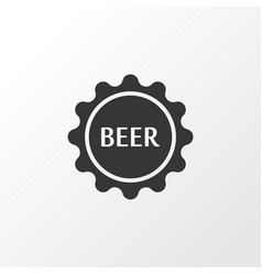beer lid icon symbol premium quality isolated vector image
