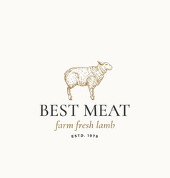 Best meat farm fresh lamb abstract sign vector