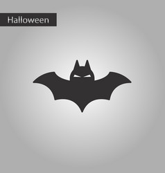 Black and white style icon halloween bat vector