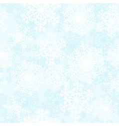 Blue and white snowflakes background vector