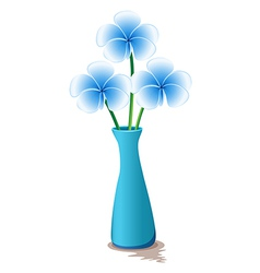 Blue flowers in a blue vase vector