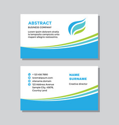Business card template with logo - concept design vector