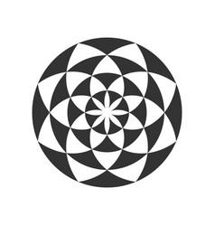 circular fractal design element vector image