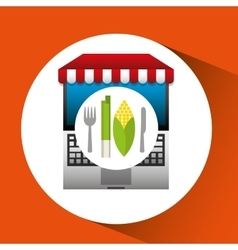 Cob online shopping app vector