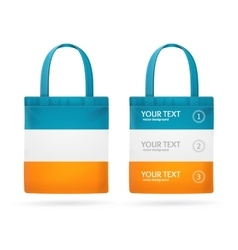Color Sale Bag Menu Set vector