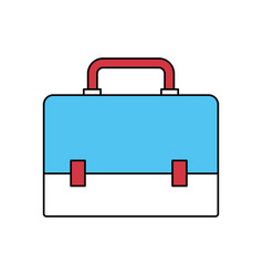 Color sectors silhouette of executive briefcase vector