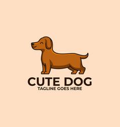 cute dog design concept template vector image
