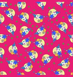 cute stars seamless pattern nursery vector image